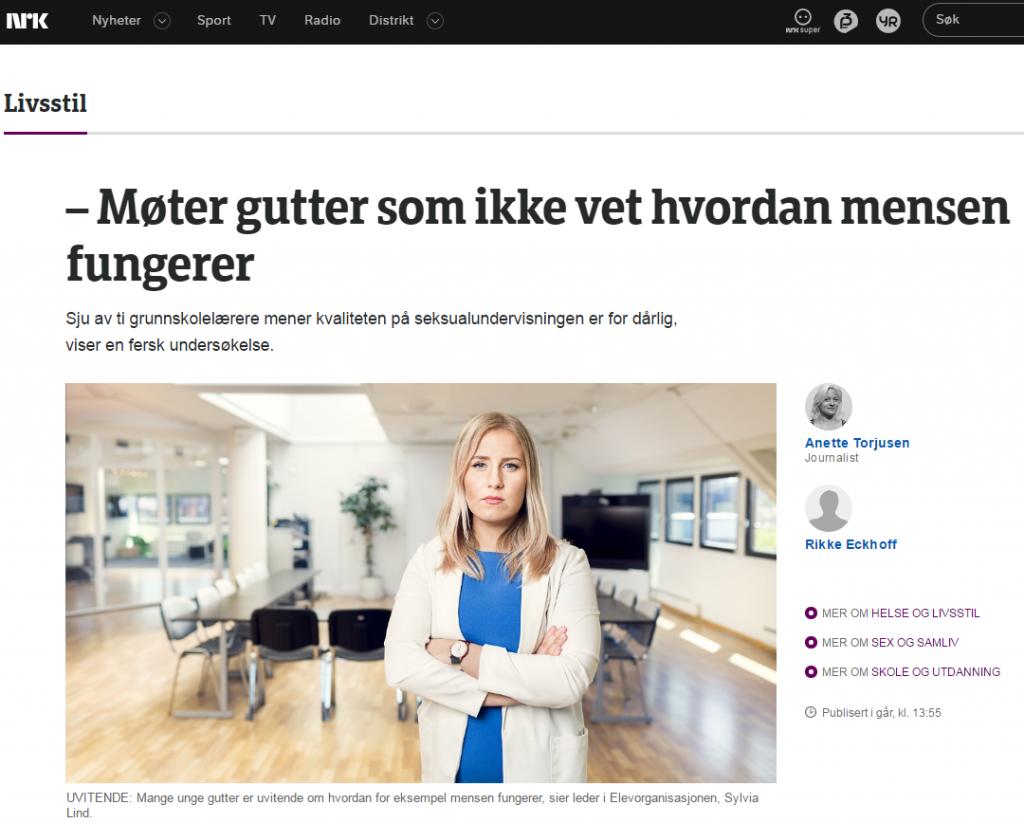 NRK om seksualundervisningsundersøkelsen 120916