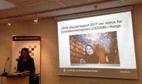 Maria lansering av LDOs rapport til CEDAW 100117