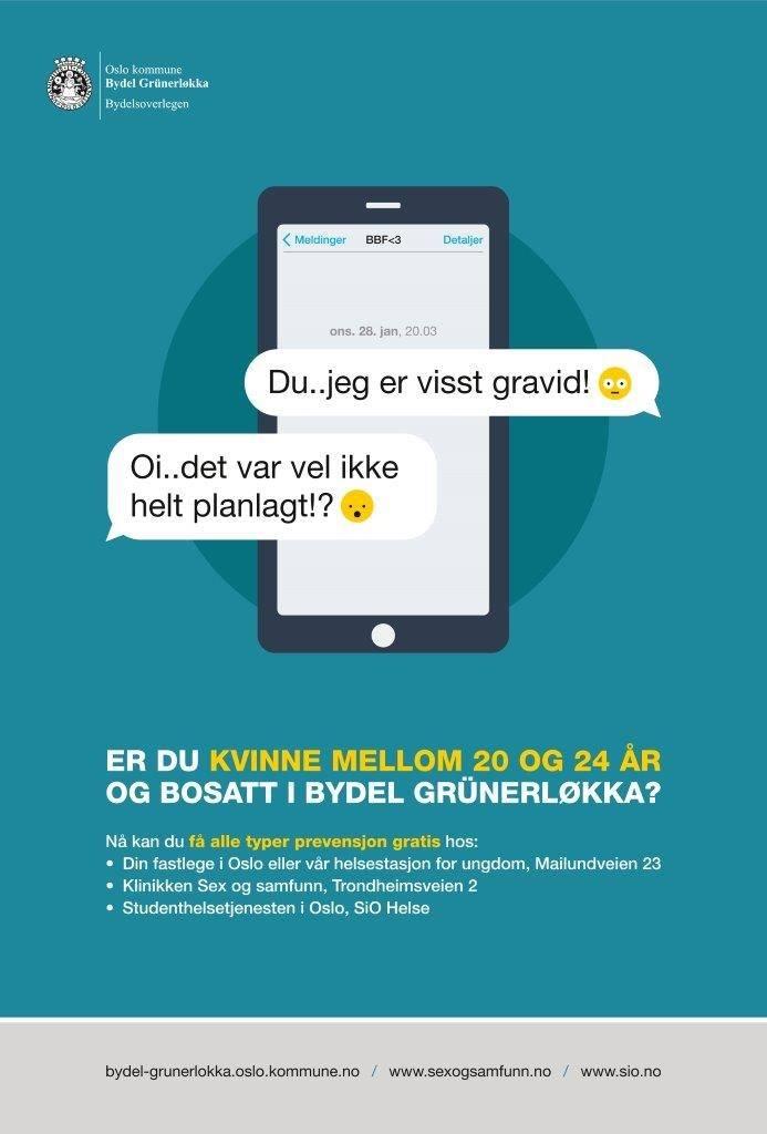 Bydel Grünerløkka gratis prevensjon